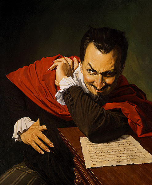 Mephistopheles with sheet music
