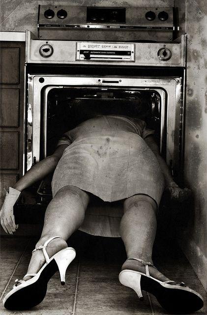 Sylvia Plath death scene photo